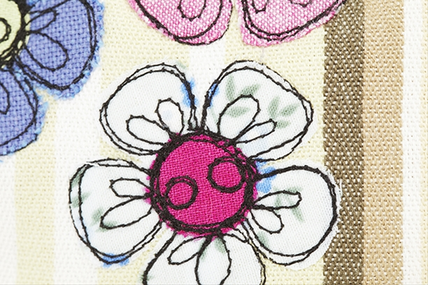 Embroidered flower purse