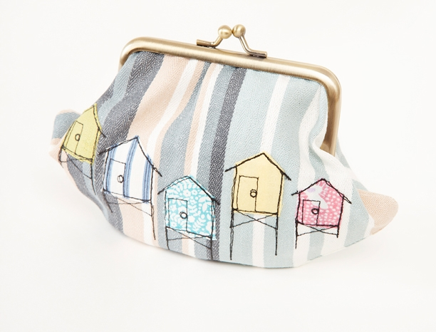 Beach hut purse